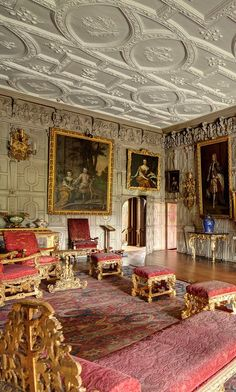 Knole House, England. Has Elizabethan and Stuart structures.