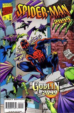Spider-Man 2099 # 40 by Andrew Wildman & Stephen Baskerville Marvel 2099, Marvel Dc Comics, Spiderman Art, Amazing Spiderman, Comic Book Covers, Comic Books, World Of Tomorrow, Manga Pages, Disney Marvel