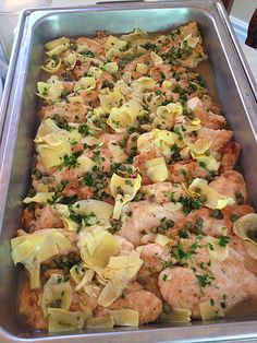 Easy Entertaining - Chicken Piccata with artichoke hearts, YUM!!!  Was the perfect healthy dish for a baby shower | MmGood.com