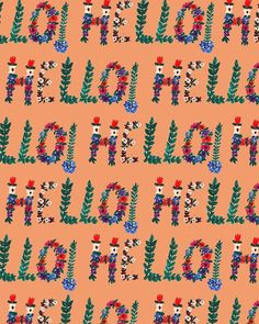 Say it with flowers! #pattern #illustration