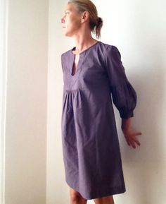 Dress or Tunic  My Garden  in  cotton purple prune by IsabelAmyo