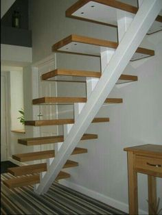 42 Inspiring Loft Stair Design Ideas For Space Saving. Loft conversion stairs are an integral part of any conversion project so in this article we'll look at some of the specific building regulation. Wooden Staircase Design, Home Stairs Design, Floating Staircase, Wooden Staircases, Railing Design, Interior Stairs, Stair Design, Open Staircase, Loft Design