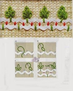 Não chega a ser meu material de trabalho mas encontrei essas formas de bordar com sianinhas uma graça!     Trago aqui para que apreciem. ...