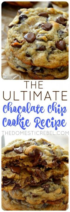 This Ultimate Chocolate Chip Cookie Recipe is the ONLY recipe you need! It produces soft chewy supremely chocolaty buttery cookies with crisp edges and gooey centers. So easy so perfect!