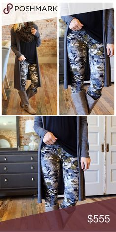 🆕 Fall Floral Leggings OS One size fits small - large. Soft brush knit leggings are amazingly comfortable! 92 % polyester, 8 % spandex. Have the look and feel of Lularoe leggings. Not sheer or see through. Get these leggings for $10 when you buy any boutique top!                                                   Not LuLaRoe!!! Pants Leggings