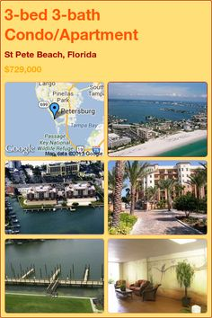 3-bed 3-bath Condo/Apartment in St Pete Beach, Florida ►$729,000 #PropertyForSale #RealEstate #Florida http://florida-magic.com/properties/8751-condo-apartment-for-sale-in-st-pete-beach-florida-with-3-bedroom-3-bathroom