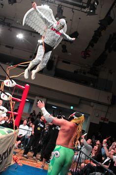Image result for flying masked japanese wrestler pics