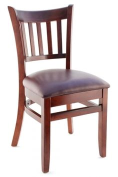 Premium Vertical Slat Side Chair   Made In The USA