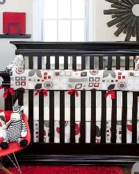 I love it with the black crib!