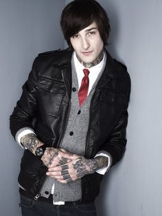 Mitch Lucker of Suicide Silence. So jelly of his ink.