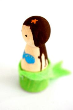 Mermaid peg doll