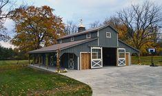 Metal Horse Barns, Horse Barn Plans, Barn House Plans, Metal Barn, Barn Builders, Horse Barn Designs, American Barn, Home Building Design, Dream Barn