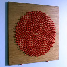 Sunflower array with push pins