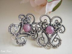 Swirls of Love - Stud Earrings - via @Craftsy