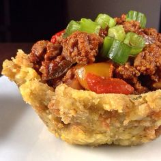 ~MOFONGO BOWL~ (Makes 4-5 Servings) Boil 3 Green Plantains in a large saucepan (each cut into at least 4 pieces) with 1 tablespoon of Garlic Paste & a dash of Adobo Remove when plantains can be poked...