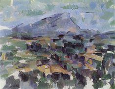 Paul Cézanne 110 - Paul Cézanne - La montaña Sainte-Victoire, 1905.