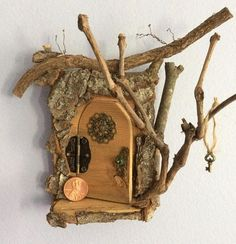 Opening Fairy Door ~ Enchanting Fairy Door by Olive ~ Swarovski Crystal Door Knob with Tiny Key. Each One of A Kind! Sealed for option of Outdoor Display Find Olive Nature Folklore under the following search terms: fairy garden kit miniatures for fairy gardens fairy garden #miniaturefairygardens