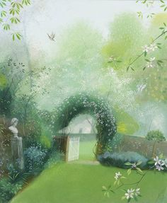 Nicholas Hely Hutchinson (b.1955) —  Spring Morning in the Garden (656x800)