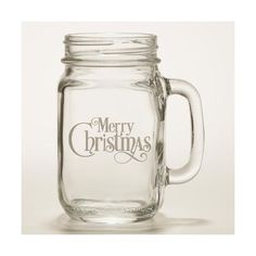 Cost Plus World Market Merry Christmas Mason Jar Glasses ($60) ❤ liked on Polyvore featuring home, kitchen & dining, drinkware and cost plus world market