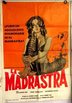 Mexican Movie Poster'74 La Madrastra StepMother Sexploitation Hot Legs Stockings