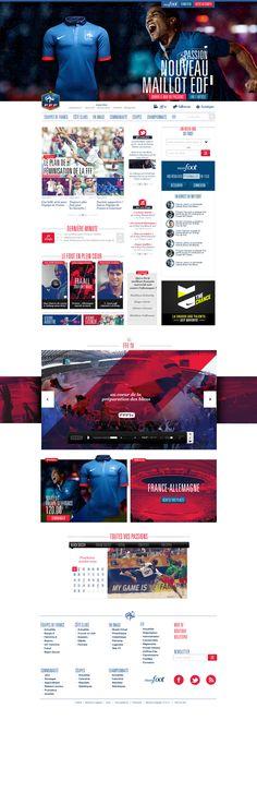 """Nótese la diferencia entre el sitio de la federación francesa de fútbol y nuestra """"flamante"""" liga MX //  FFF by Thomas Ciszewski, via Behance"""