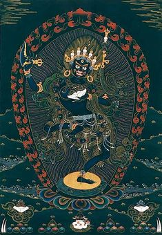 Chinese Antique Tibetan Buddhist gemstones Vajra Town House Evil