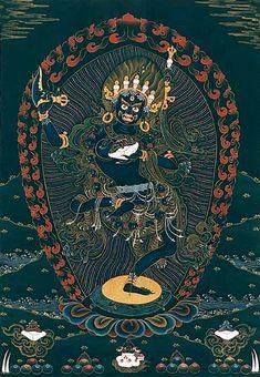 Vajrayogini - Krodha Kali (Wrathful Black Varahi)    (Tibetan: Troma Nagmo. Sanskrit: Krishna Krodhini. English: the Fierce Black One), a wrathful form of Vajravarahi.