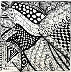 Faint Heart Art: Zentangles and Inchies ........ draw a zentangle and cut it into inchies!