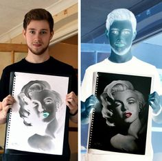 Impressive Negative Drawing