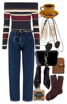 """""""Untitled #10105"""" by nikka-phillips ❤ liked on Polyvore featuring Forever 21, Mulberry, Alaïa, Ray-Ban and J.Crew"""