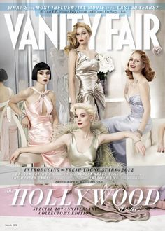 Rooney Mara, Mia Wasikowska, Jennifer Lawrence and Jessica Chastain Covers The Hollywood Issue of Vanity Fair March 2012 photographed by Mario Testino