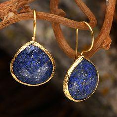 House of Rhya 26.6 CTTW Lapis Lazuli Earrings | ExchangeAuctions.com