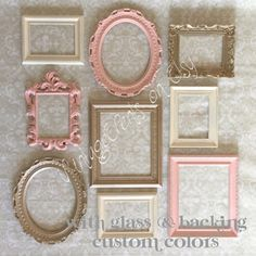 9 Gallery Wall PICTURE FRAMES Vintage Style by VintageEvents