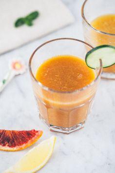 Succo Arancia Cetriolo Pera Limone e Menta