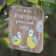 https://www.sassandbelle.co.uk/Everything Grows With Love Garden Small Plaque