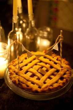 Definitely needs candles at our pie table
