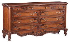 Louis J Solomon Louis XV 9-Drawer Dresser
