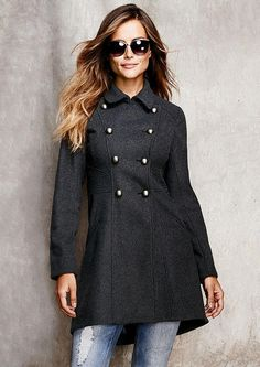 Princess Seam Coat - View All Outerwear/Jackets - Outerwear/Jackets - Clothing - Alloy Apparel