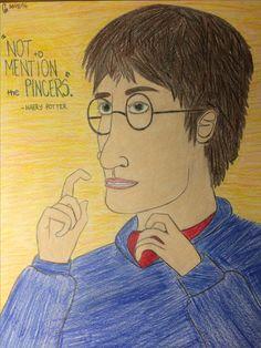 Harry Potter - pencil, color pencil 10/15/16