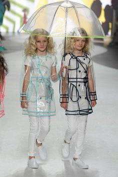 Transparent raincoats Supertrash girls summer 2014