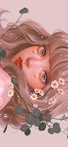 Cartoon Art Styles, Cute Art Styles, Arte Do Kawaii, Japon Illustration, Cool Art Drawings, Aesthetic Pastel Wallpaper, Digital Art Girl, Anime Art Girl, Pretty Art