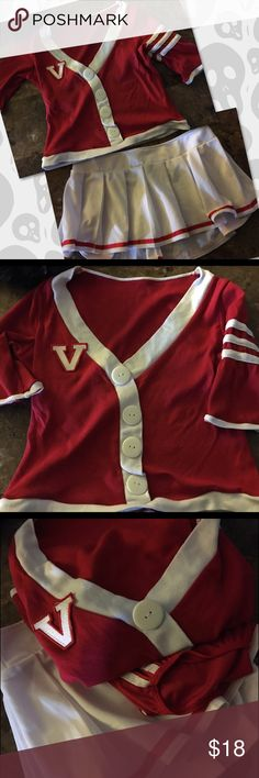 Cheer Leader Costume Size Xsm cheerleader Halloween Costume. Comes with top, skirt and spanx. Girls get your cheer ready  Halloween Costume Other