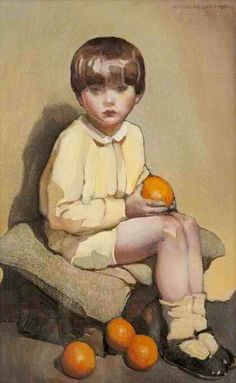 Little Boy with Oranges, Norah Nelson Gray.