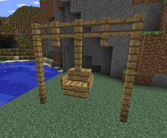 minecraft ideas | Swinging Chair                                                                                                                                                     More