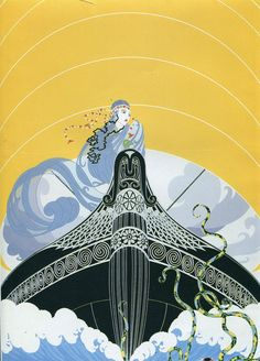 Erte Romain de Tirtoff Print Art Deco by CarambasVintage on Etsy, $15.00