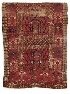 Tekke Ensi 137 x 101 cm (4ft. 6in. x 3ft. 4in.) Turkmenistan first Half 19th century