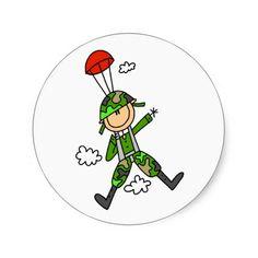 Soldier Jumper Round Sticker