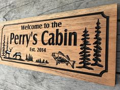 Outdoor Wood Sign Carved Cabin Signs Last Name Family Sign