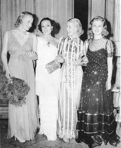 Virginia Bruce, Dolores del Rio, Anita Louise, Joan Bennett