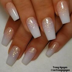 All acrylic nails design allacrylic coloracrylic ombrenails Cute Acrylic Nails, Cute Nails, My Nails, Wedding Acrylic Nails, Acrylic Ombre Nails, Ombre Nail Art, Acrylic Nail Designs Glitter, Glitter Wedding Nails, Simple Acrylic Nail Ideas